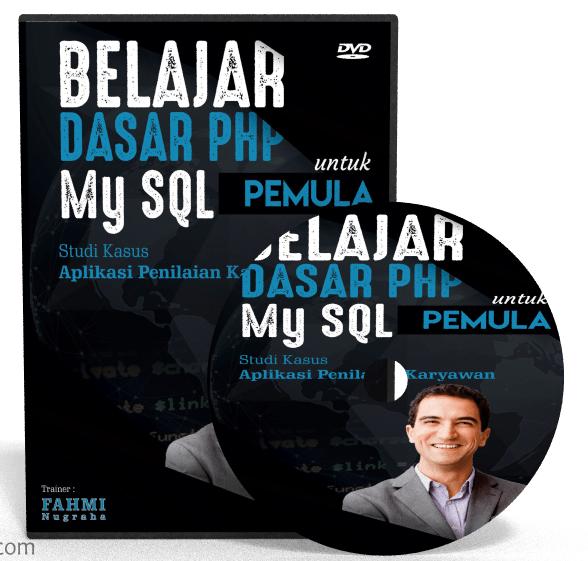 Video Tutorial Belajar Dasar PHP dengan Database MySQL untuk Pemula