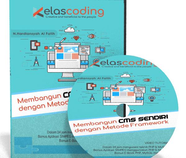 Video Tutorial Membangun CMS Sendiri Dengan Metode Framework